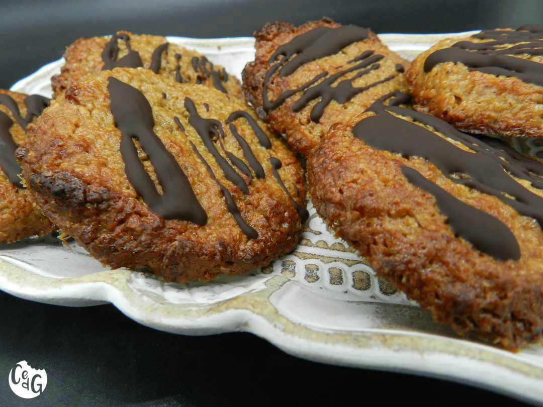 galletas de avena con choco