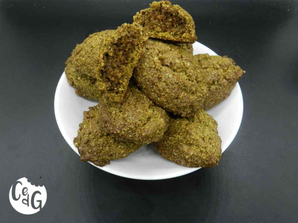 galletas de té matcha